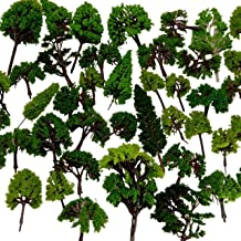 NW 32pcs 0.79-6.30inch Mixed Model Trees Accessories Model Train Scenery Architecture Trees Model Scenery with No Stands(A...