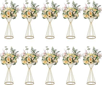 Nuptio 10 Pezzi Metallo Tromba Fiore 50cm Altezza Vaso Centrotavola Matrimonio Vaso Tavolo Decorazione Per Matrimonio Anniversario Cerimonia Festa Compleanno Evento Corridoio Decorazione Della Casa Amazon It Casa E Cucina