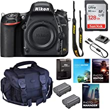 Nikon D750 DSLR Camera (Body Only) || 24.3MP FX-Format || 1080p Video || Wi-Fi with Padded Shoulder Case, Photo & Video Ed...