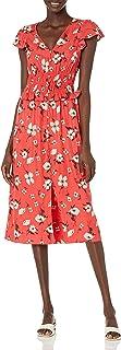 فستان ريبيكا تايلر برقبة على شكل حرف V للنساء