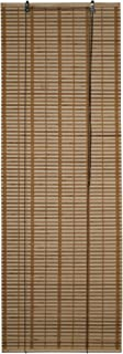 ALEKO BBL23X64BR Light Brown Bamboo Roman Wooden Roll Up Blinds Light Filtering Shades Privacy Drape 23 X 64 Inches