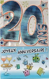 Amazon Fr Carte Anniversaire 20 Ans