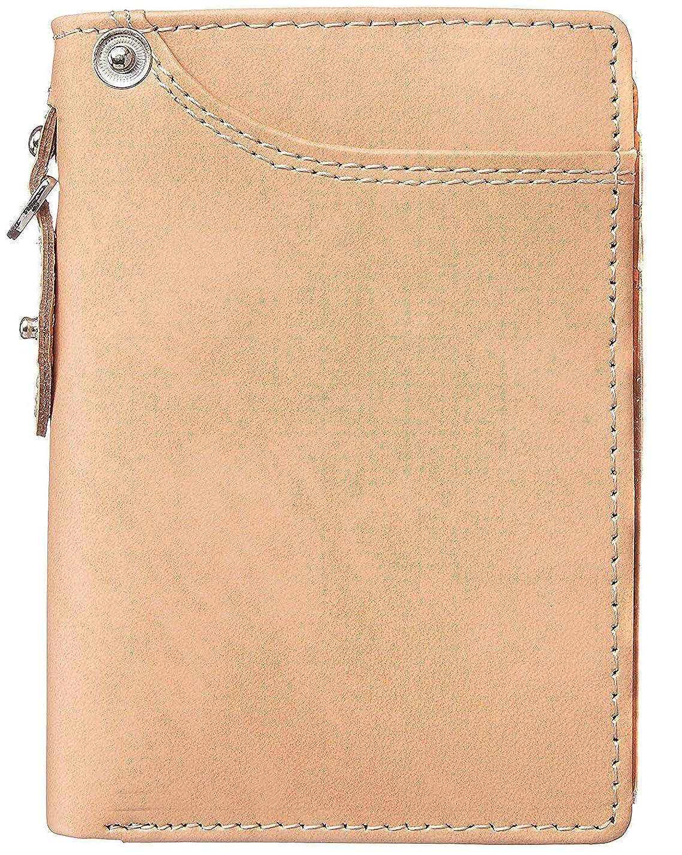 ふける描写[High-end] 極上ドイツ製ボンデッドレザー 二つ折り 短財布 ミニ財布 YKK 大容量 ME0300_b