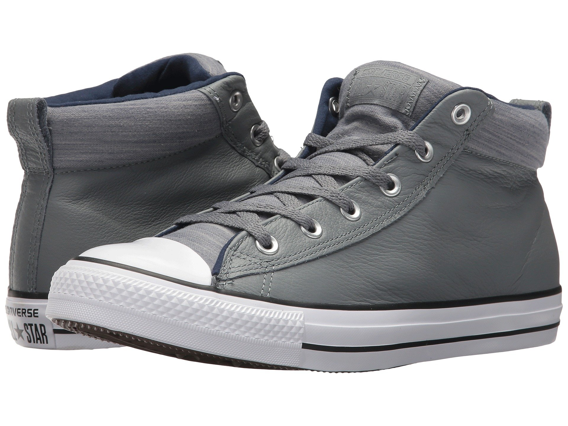 bcb1f5e63ca3 Converse Chuck Taylor® All Star® High Street Leather W  Fleece Mid In Cool
