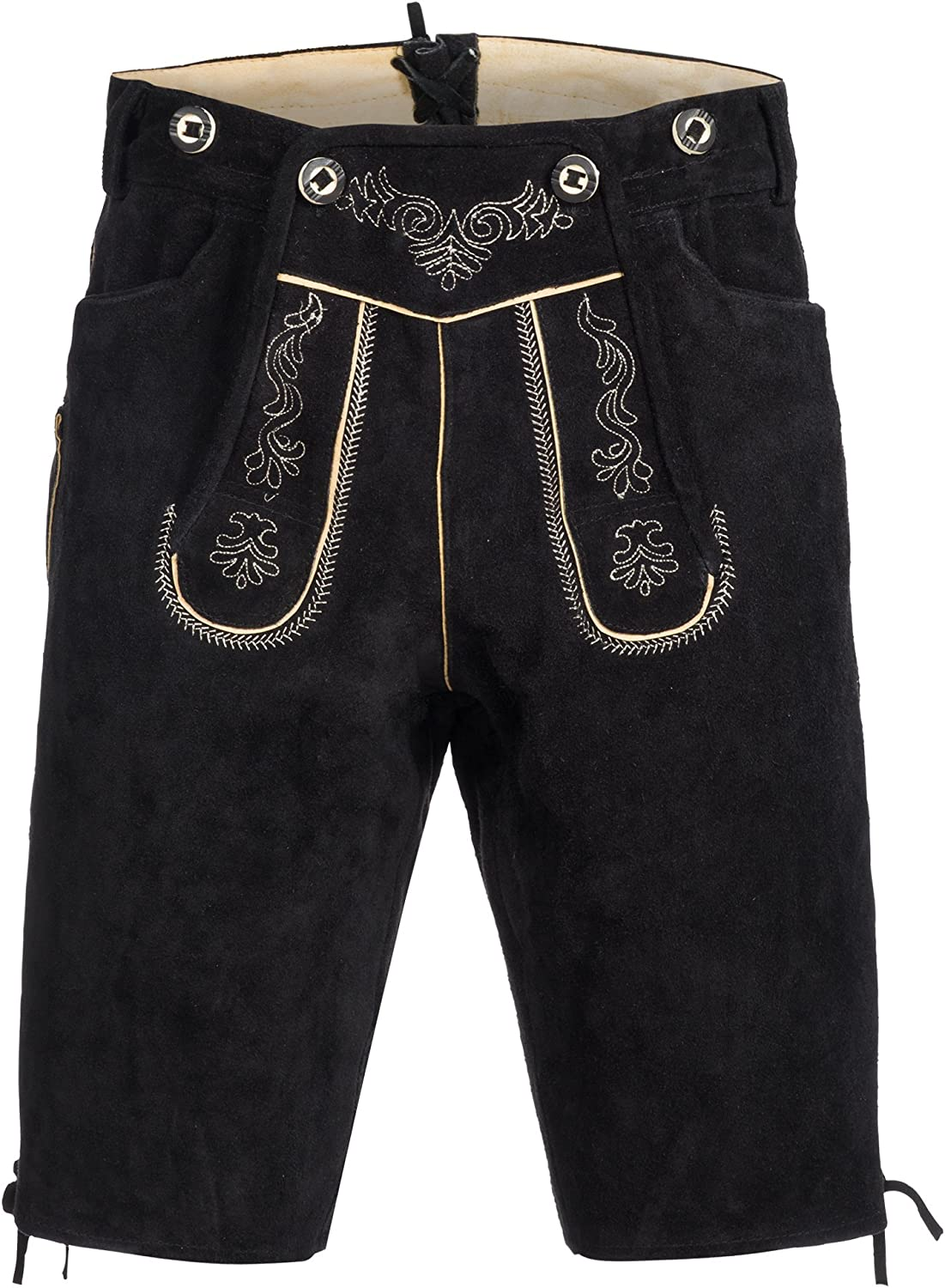 Gaudileathers Men's German Trachten Lederhosen Trousers Shorts