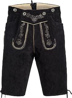 Gaudi-leathers Men's German Trachten Lederhosen Trousers Shorts