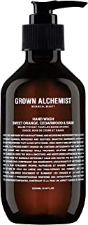 Grown Alchemist Hand Wash - Sweet Orange, Cedarwood & Sage - Gentle Liquid Soap Made with Organic Ingredients (300ml / 10.14oz)