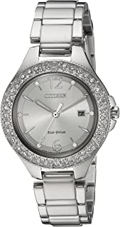Citizen Women's 'Eco-Drive' Quartz Stainless Steel Casual Watch, Color:Silver-Toned (Model: FE1160-54A)