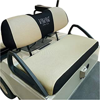 10L0L Golf Cart Seat Covers Washable Fit for Club Car DS & Precedent &Yamaha Sandwich Breathable Mesh