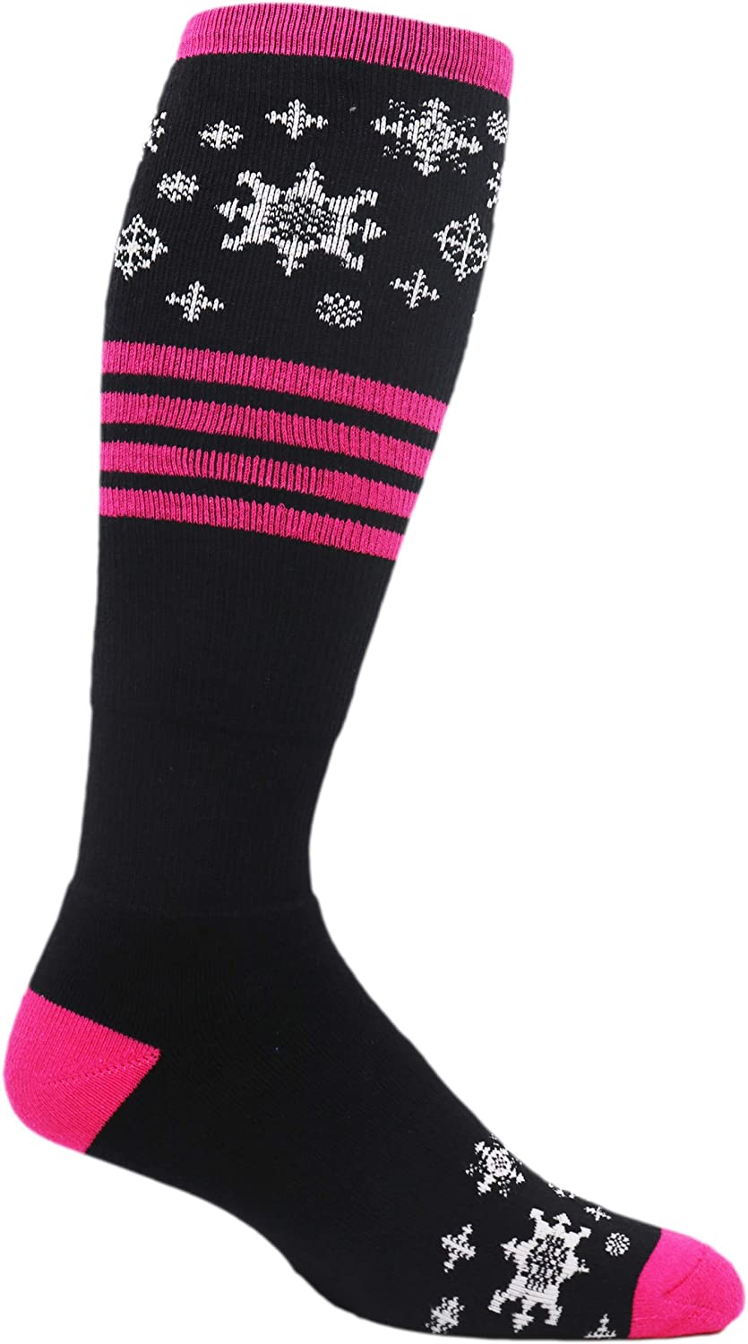 MOXY Socks 1 year warranty Black with Pink At the price Extreme Ski Full-Cushion The Blizzard
