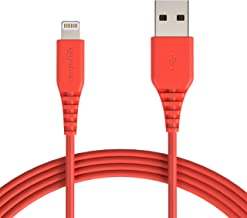AmazonBasics Lightning to USB A Cable, MFi Certified iPhone Charger, Red, 10 Foot