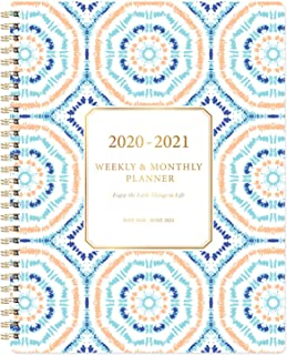 "Planner 2020-2021 - Academic 2020-2021 Planner 8""x10"" with Weekly & Monthly Spreads, from Jul 2020- Jun 2021, Twin- Wire Binding, to-Do List, Perfect Personal Organizer for School, Home & Office"