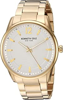 Kenneth Cole New York Men's CLASSIC Japanese-Quartz Watch with Stainless-Steel Strap, Gold, 21.2 (Model: KC50688004