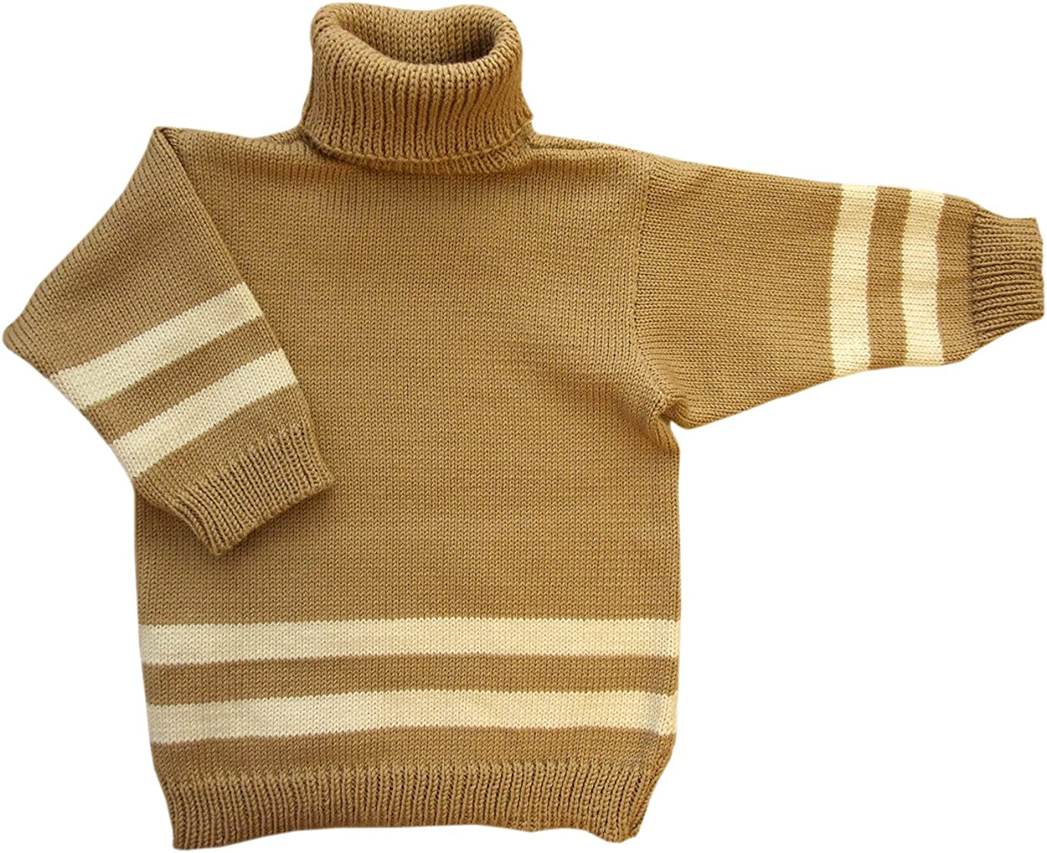 Merino Wool Knitted Polo Neck Sweater Turtleneck