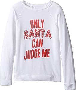 Only Santa Can Judge Me Quad Pullover (Little Kids/Big Kids)