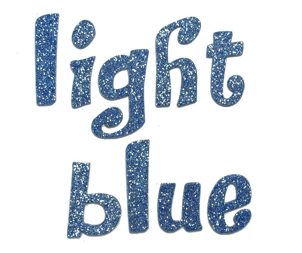 Light Blue Metallic Glitter HandCut 1.5