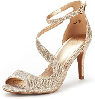 Best gold glitter open toe heels Reviews