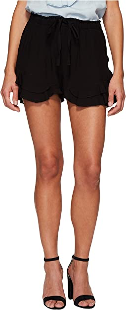 Jack by BB Dakota - Alder Rayon Twill Double Ruffle Hem Shorts