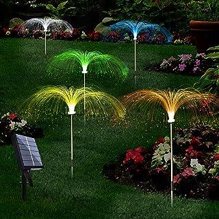 Upgraded Solar Garden Lights Outdoor 5 Pack, 7 Color Changing Solar Flowers Garden Lights, Waterproof Outdoor Decorative S...