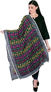 Floral Embroidered Indian Phulkari Dupatta Women Traditional Scarve Stole