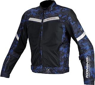 コミネ(KOMINE) バイク用 プロテクトハーフメッシュジャケット Blue Camo/Black XL JK-127 1155 春夏秋向け メッシュ素材 CE規格 プロテクター
