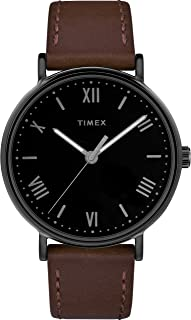 Timex Men's TW2R80300 Southview 41mm Brown/Black Leather Strap Watch