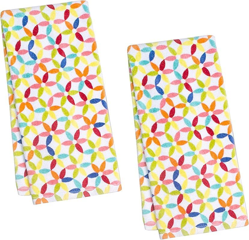 Fiesta Petite Floral Kitchen Towel Set Of 2