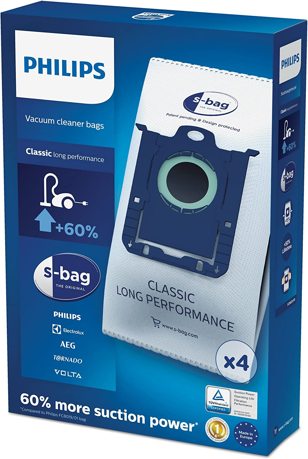 Philips FC8021 Max 79% OFF 03 S-Bag Classic Vacuum Pack 4 OFFicial site Bags Cleaner - of