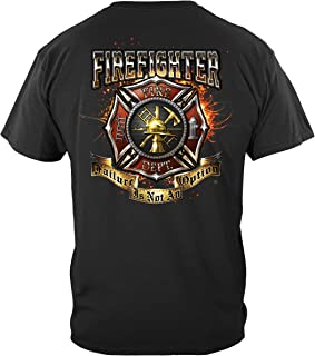 fire Fighter Shirts   Firefighter American Flag Thin Red Line T Shirt FF2353