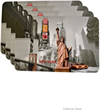American Chateau Set 4 New York City Statue of Liberty Pvc Kitchen Table Place Mats Placemats