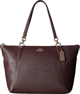 brown patent handbag