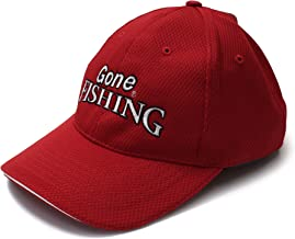 Gone Fishing Cap Men's Adjustable Size Baseball Style Fishing hat