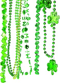 Fun Express - St Pat's Beaded Necklace Asst (144pc) for St. Patrick's Day - Jewelry - Mardi Gras Beads - Misc Mardi Gras Beads - St. Patrick's Day - 144 Pieces