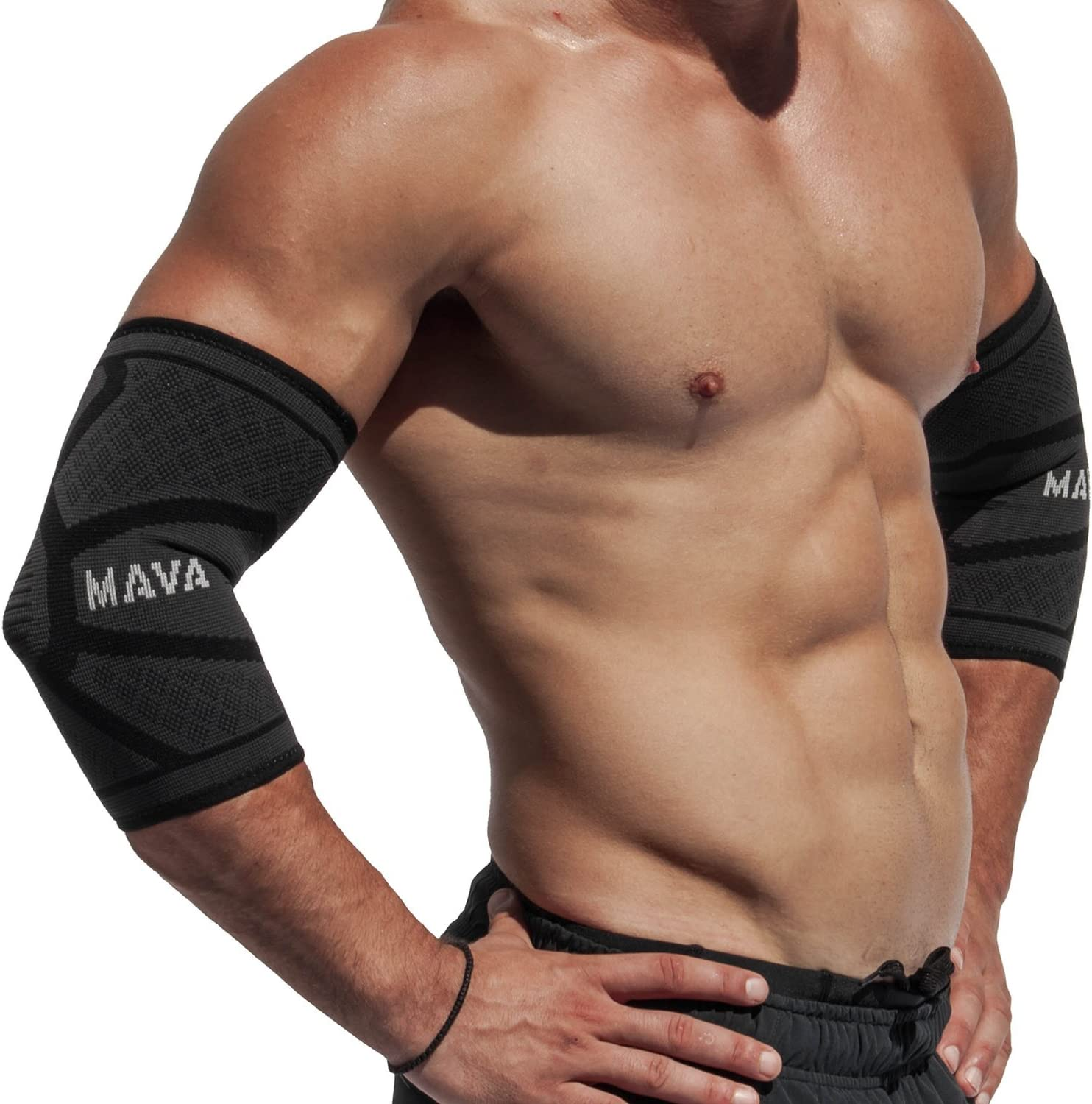 Mava Sports Elbow Brace Sleeve Compression Pair - Animer and price revision At the price