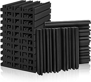 "12 Pack Set Acoustic Foam Panels, Studio Wedge Tiles, 2"" X 12"" X 12"" Acoustic Foam Sound Absorption Studio Treatment Wall ..."