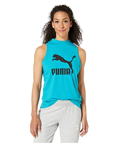 PUMA Classics Logo Tank Top (Caribbean Sea) Women
