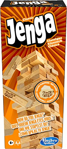 Jenga – Jeu de societe en bois Jenga – Jeu d'adresse – Version française