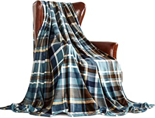 MERRYLIFE Throw Blanket Plaid Sherpa | Ultra-Plush Soft Colorful Oversized | Decorative Couch Travel Blanket | King Size(90