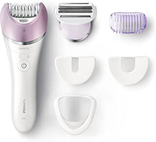 Philips BRE635 Satinelle Advanced Cordless Epilator– All-rounder for face and body hair removal