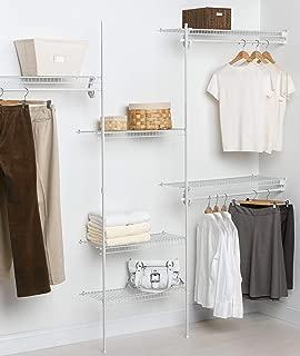 ClosetMaid 5636 SuperSlide 5-Feet to 8-Feet Closet Organizer Kit, White (Renewed)