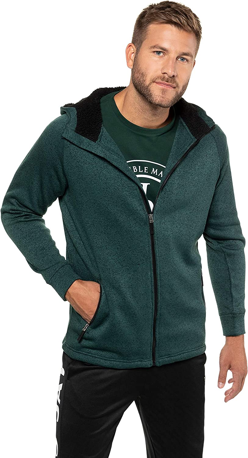 JP 1880 Homme Grandes Tailles Hoody Maille et Polaire 723298