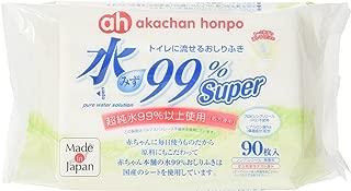 Super トイレに流せるおしりふき 90枚×12個パック【sm0424】