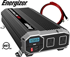 ENERGIZER 2000 Watt 12V Power Inverter, Dual 110V AC Outlets, Automotive Back Up Power..