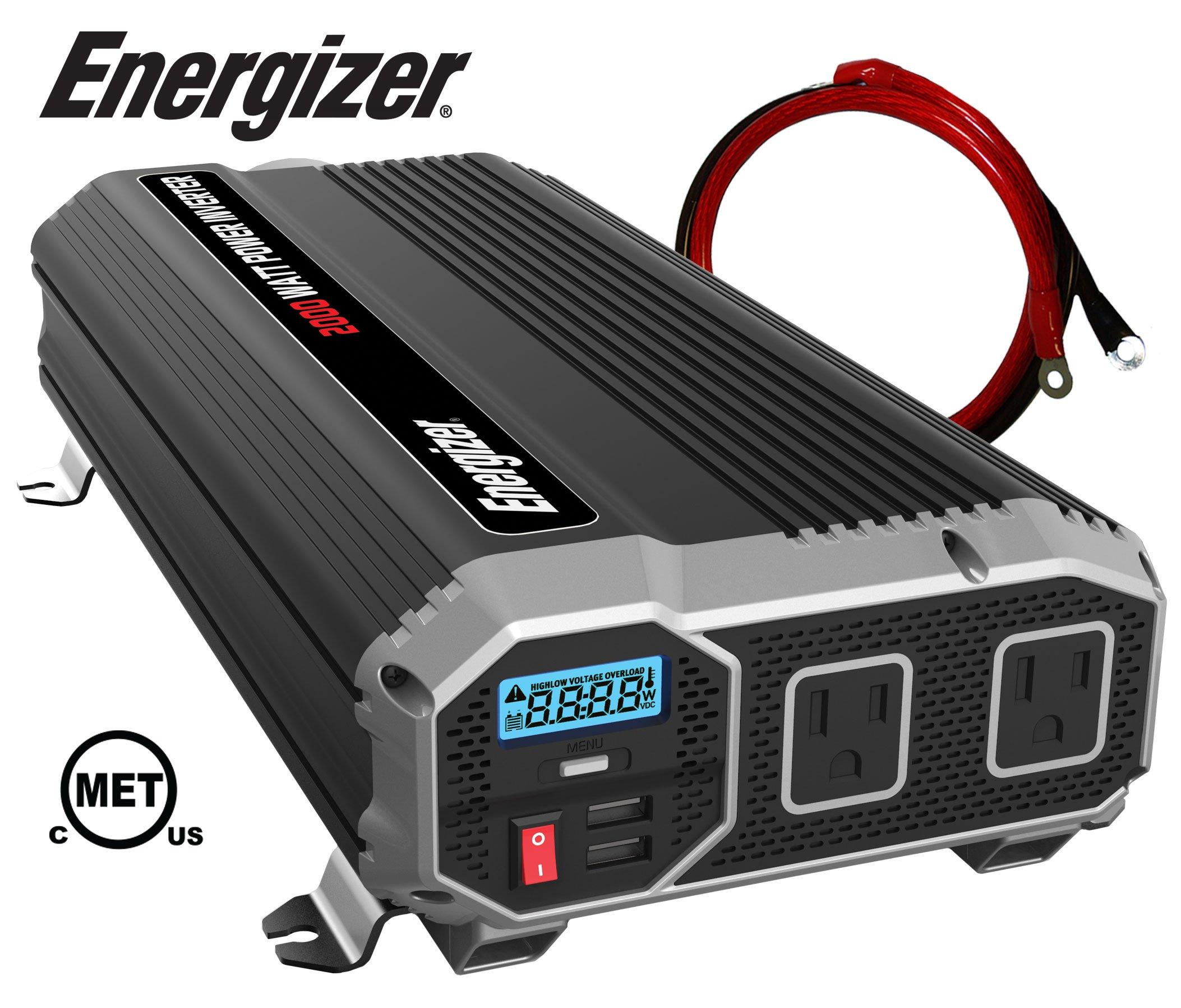 ENERGIZER Inverter Outlets Automotive Converts