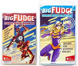 Big Fudge Archival Comic Book Bags and Boards Pack of 50 Comic Bags and 50 Boards for Current Comic Books or 6.87x10.5 Magazine - Acid Free and Crystal Clear Comic Book Storage for Comics