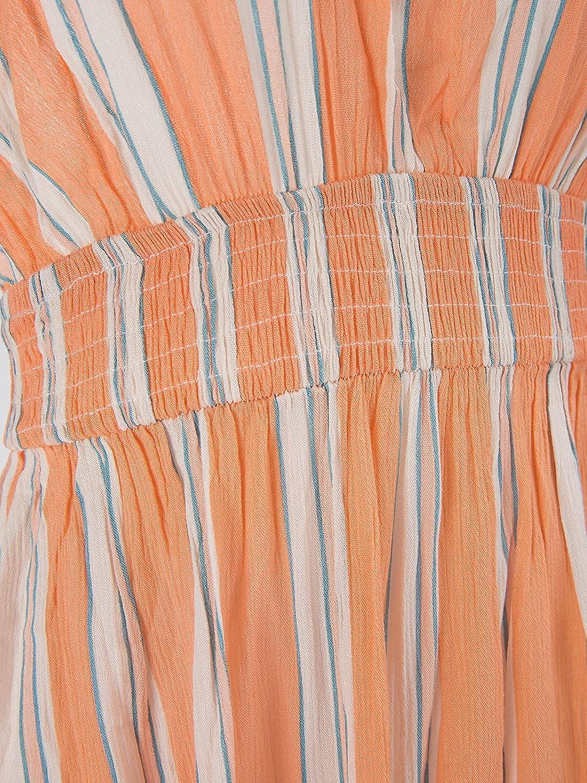 CUPSHE Women's Halter V Neck Ruched O Ring Elastic Waist Backless Maxi Dress