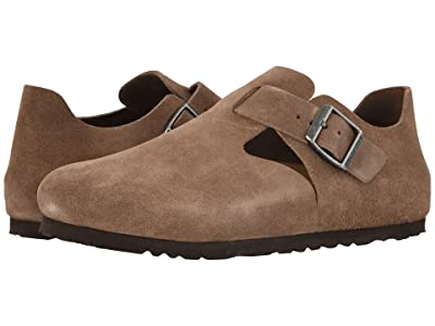 Birkenstock London (Taupe Suede) Slip on Shoes