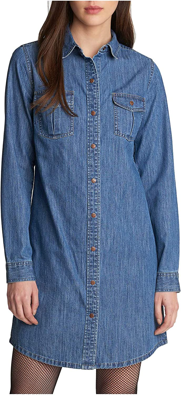 Jean button-down dress  L-size woman