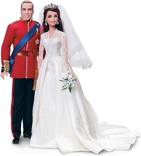 comprar nuevo barato Mattel W3420 - - - Barbie y Ken Duque de Cambridge Guillermo y Catalina (edición coleccionista)  ahorra hasta un 80%