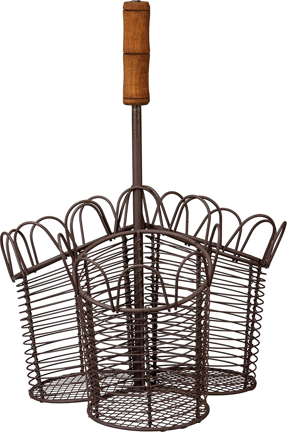 Primitives by Kathy Rustic 3-Section Al sold Max 46% OFF out. Flatware Caddy Farmh Metal
